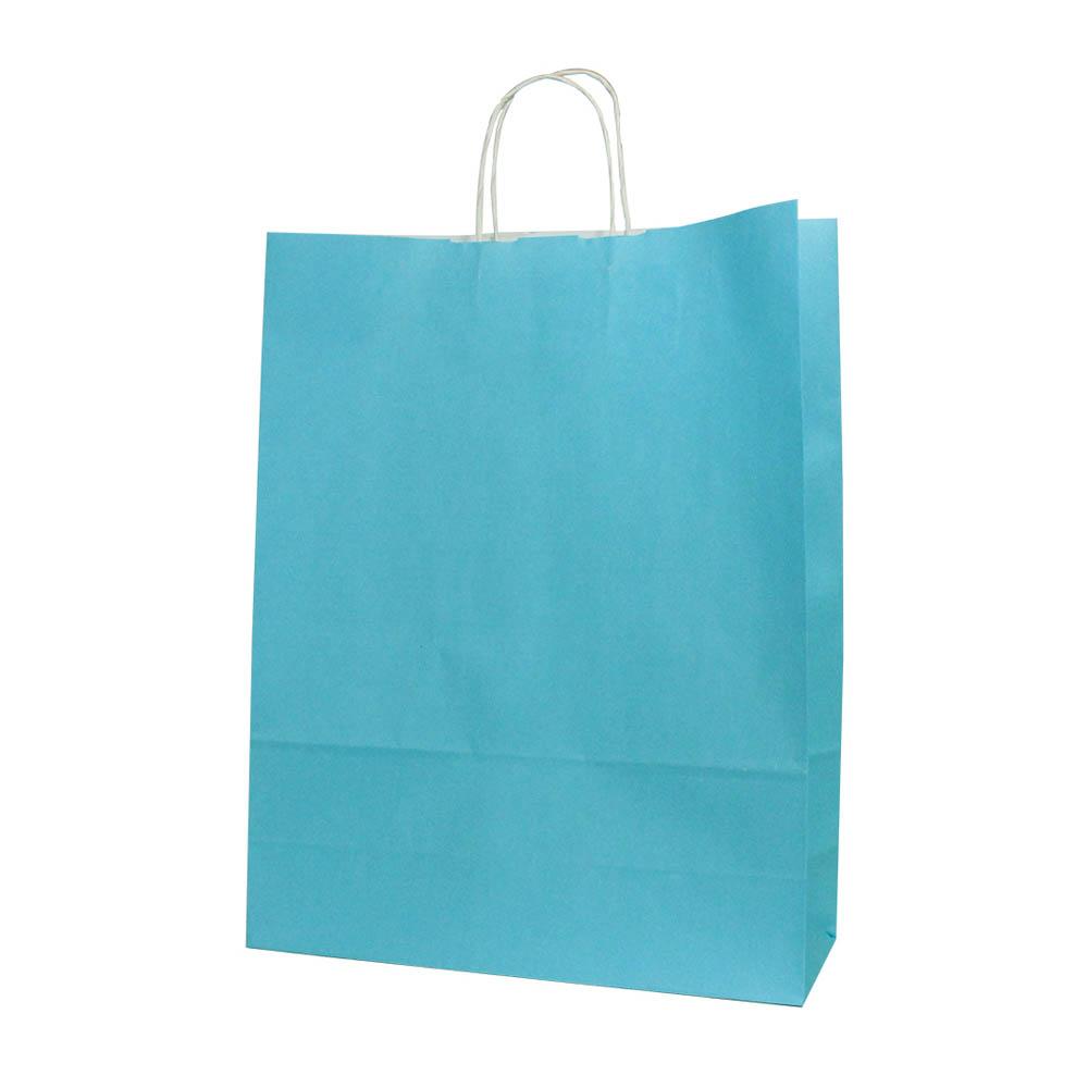 Papieren draagtas papieren koord blauw