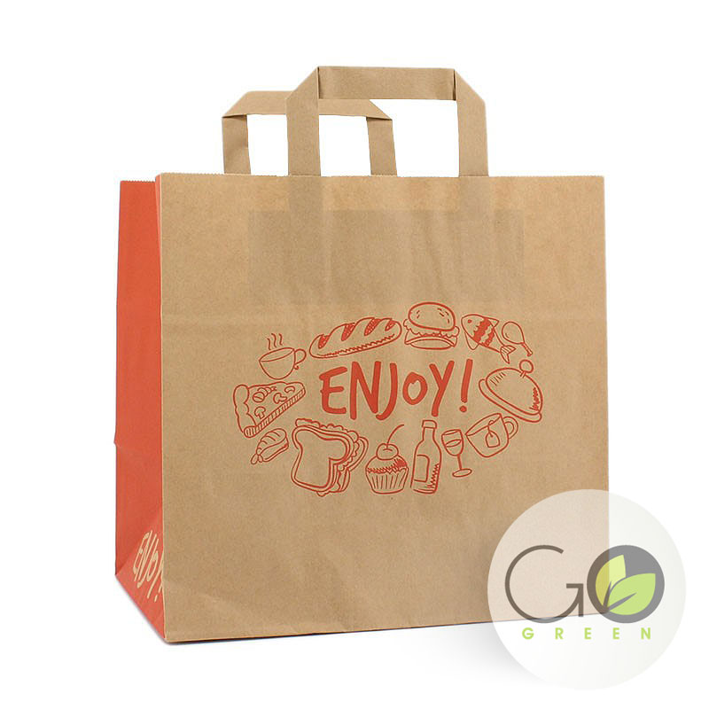 Take away snacktas opdruk: enjoy