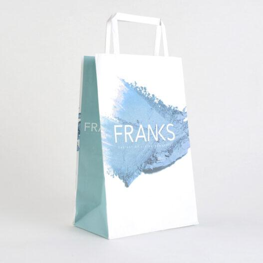Paper carrier bag flat handle Franks