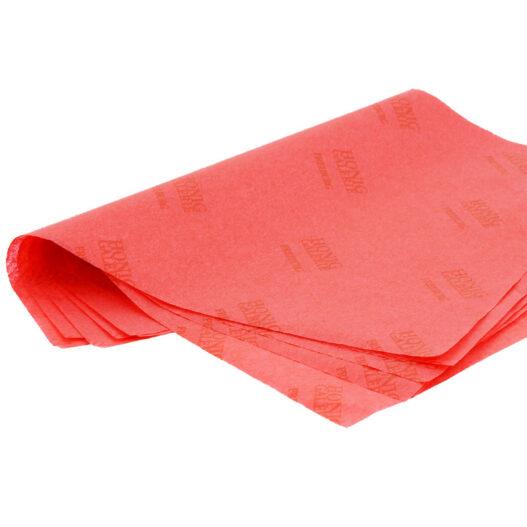 bedrukt rood vloeipapier