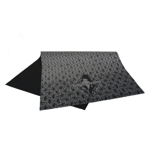 Zwart zijdepapier Opdruk Marlies Dekkers in zilver