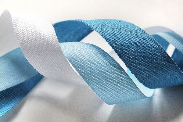 Smooth cotton ribbon