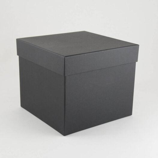 Luxe doos met losse deksel - zwart