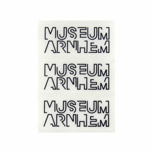 transparante etiketten opdruk Museum Arnhem foliedruk