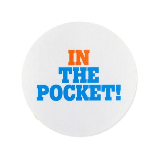 ronde papieren stickers op rol bedrukking tele2 in the pocket