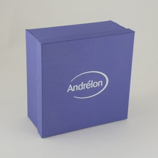 Luxe geschenkdozen karton opdruk Andrélon