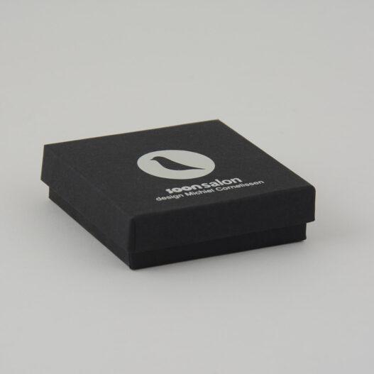luxury bespoke scarf box Rigid Card Print silver hot foil