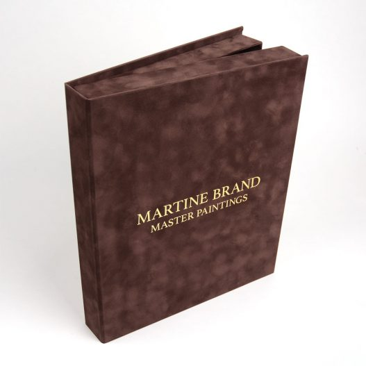 Boekdoos velours opdruk Martine Brand master paintings