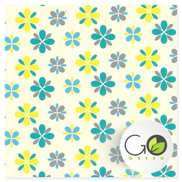 kadopapier wit recycled natur eco FSC geel grijs
