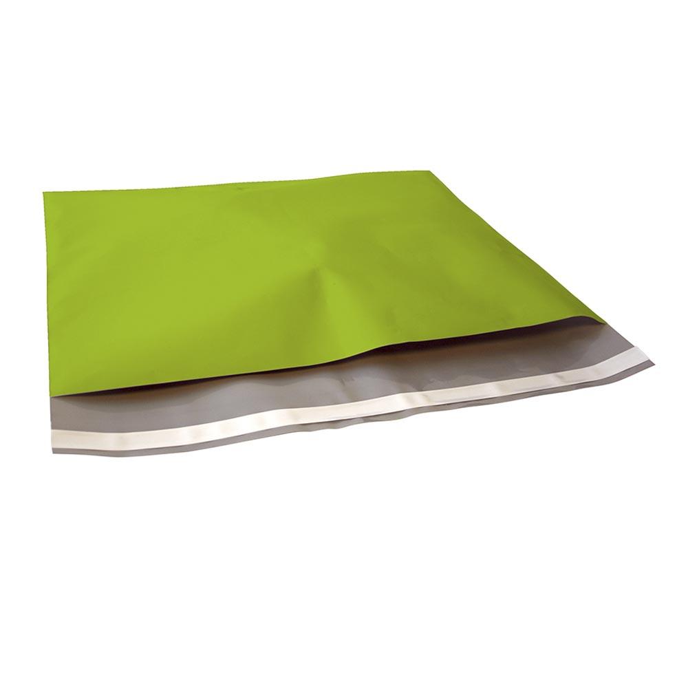 Groene plastic verzendzak