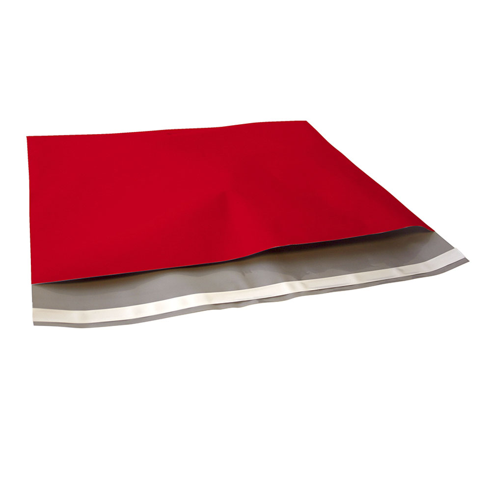 Rode plastic verzendzak