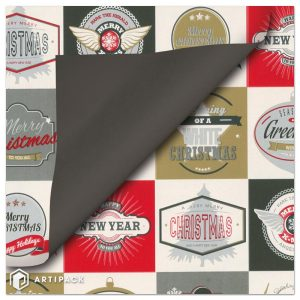 Merry Christmas and a happy new year retro style wrapping paper