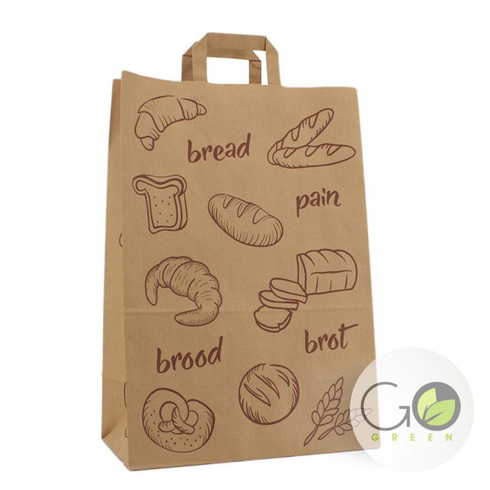 FSC Mix credit papier draagtas opdruk brood croissant stokbrood pain bread graan brot krakeling