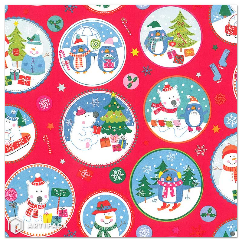 Christmas wrapping paper north pole