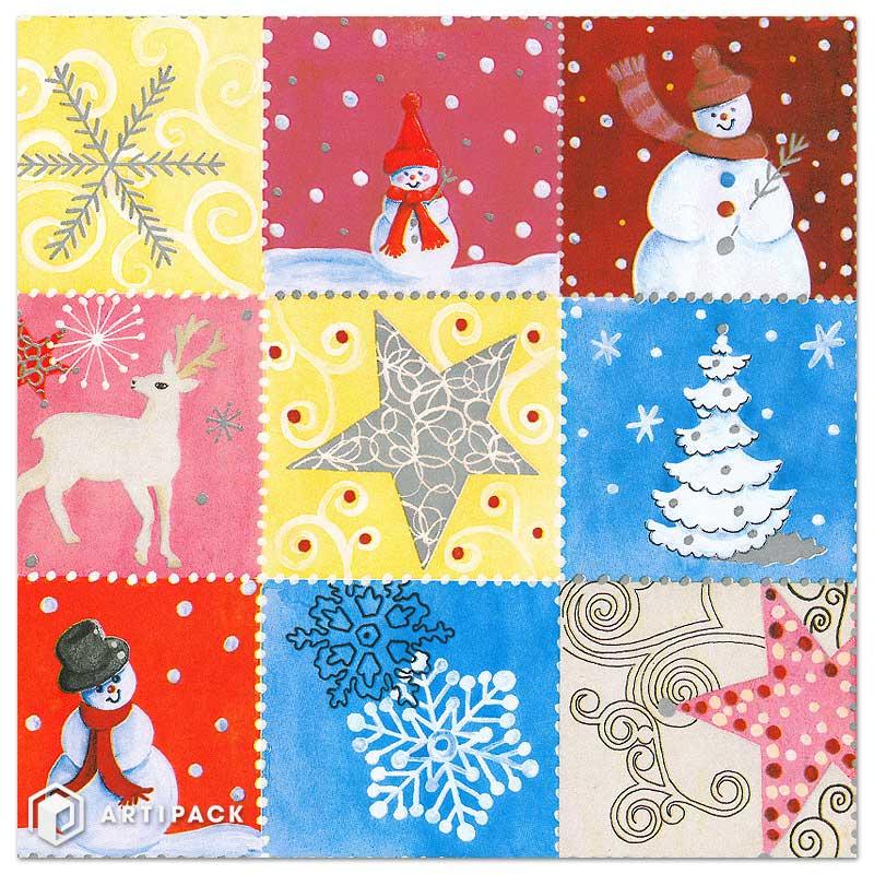 Kerst cadeaupapier sneeuw