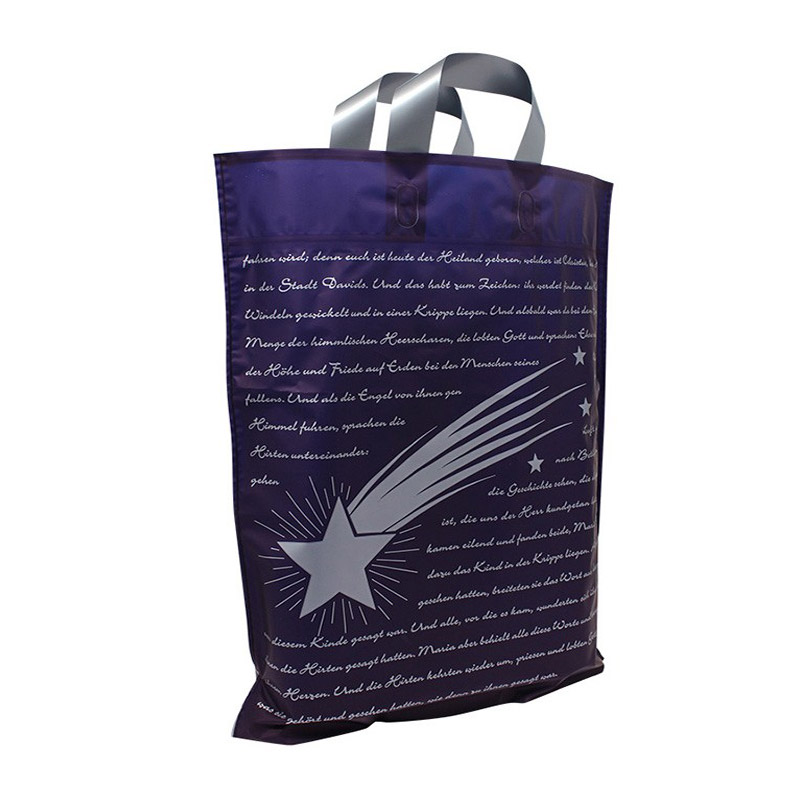 kerst tas ster donkerblauw
