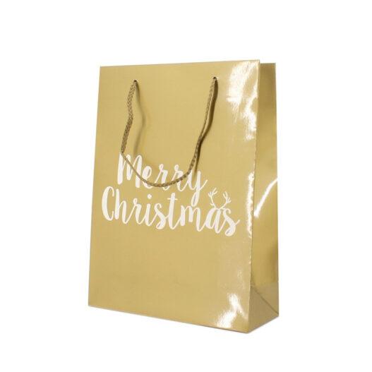 Papieren kersttas goud