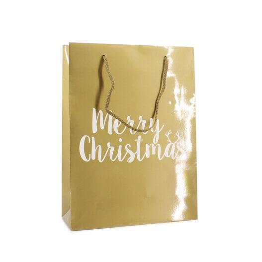 Papieren kersttassen - Merry Christmas