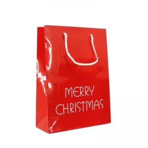 Papieren kersttassen Merry Christmas