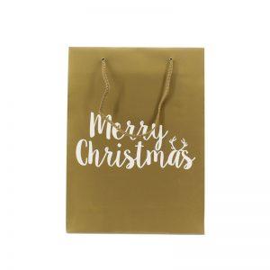 Papieren - Kersttassen - Merry Christmas in goud