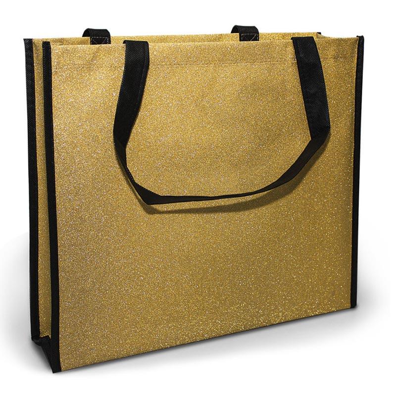 Glitter Shopper - Gold -Glossy