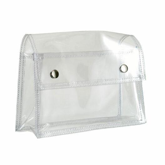 Toilettas met drukknopen - Transparant