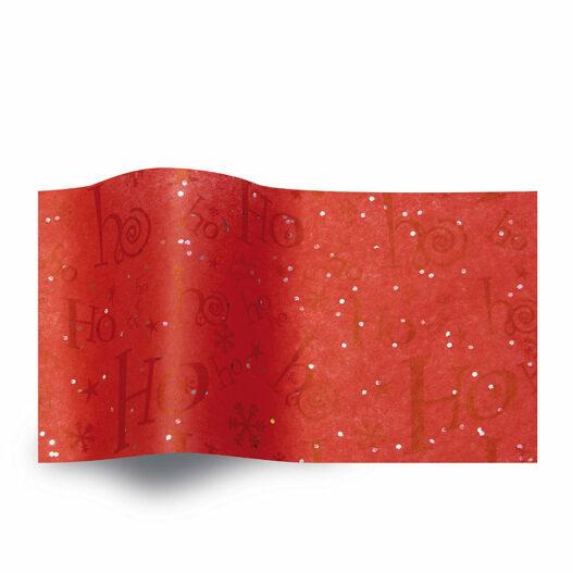 Rood vloeipapier Ho Ho Ho - GS2008B gemstones kerst
