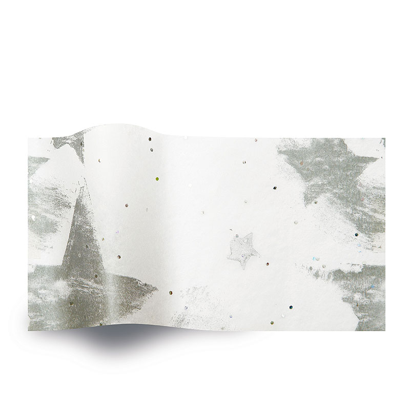 Zijdepapier Silver Celebration on White Diamond GS1015B Gemstones