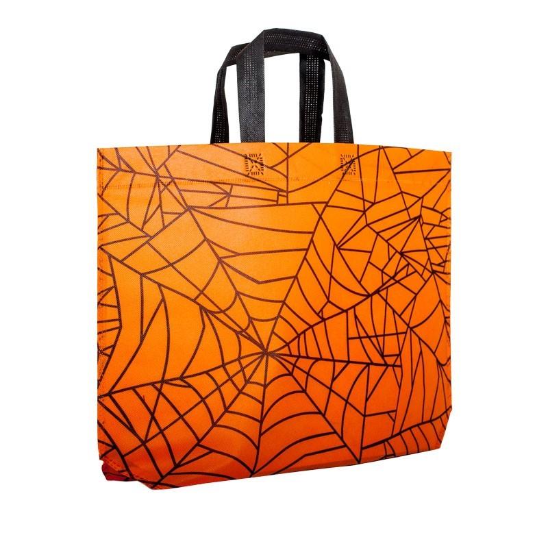 Halloween bag - spider - orange