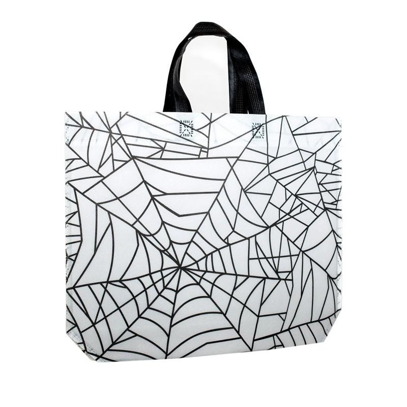 Halloween tas - Spider wit