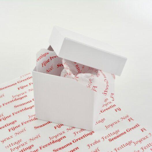 Zijdepapier - Fijne feestdagen