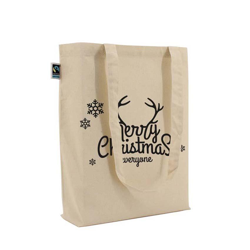 Fairtrade Katoenen tassen opdruk Merry Christmas everyone