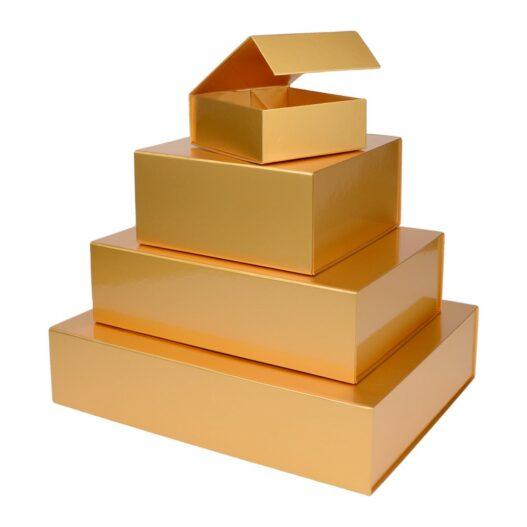 goudkleurige dozen