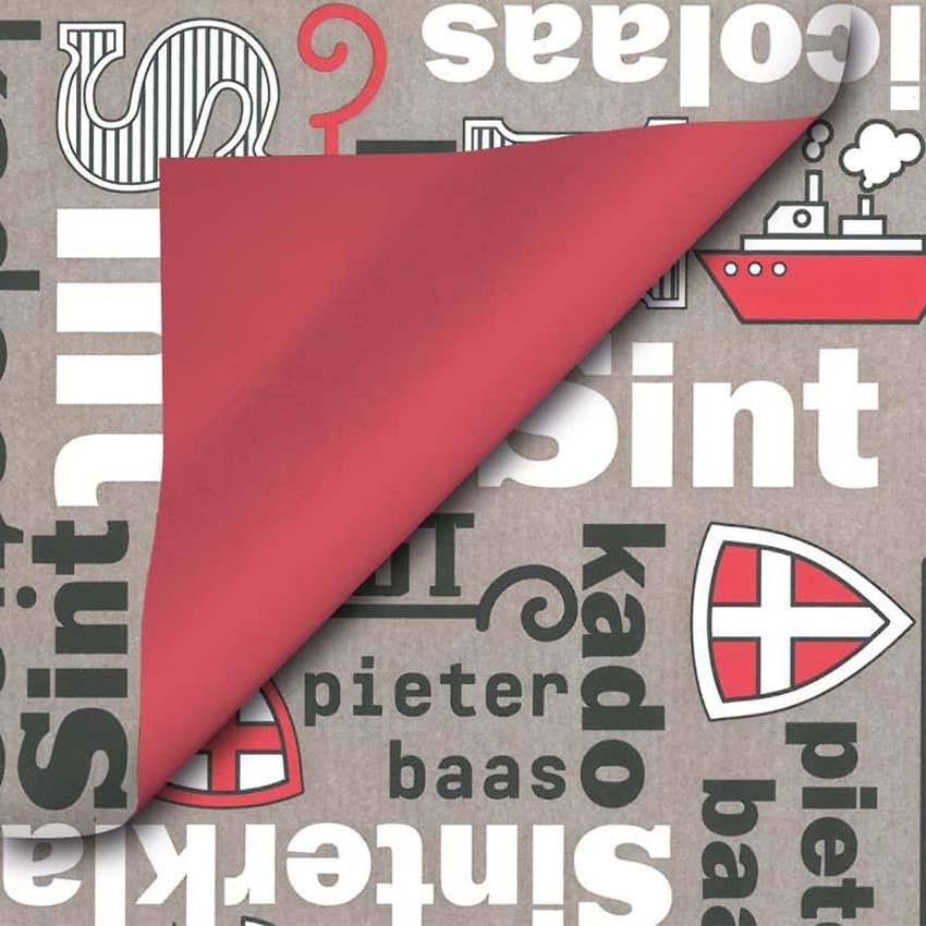 Sinterklaas geschenkpapier - 80014k