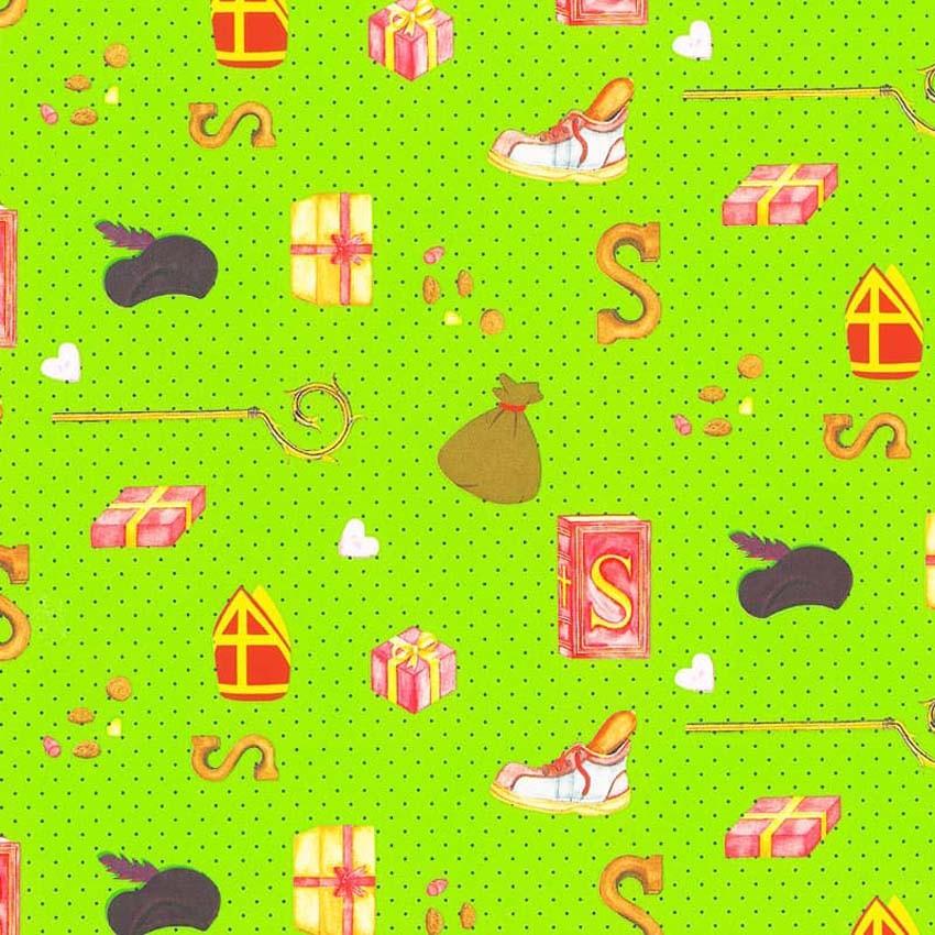 Sinterklaas inpakpapier - Groen