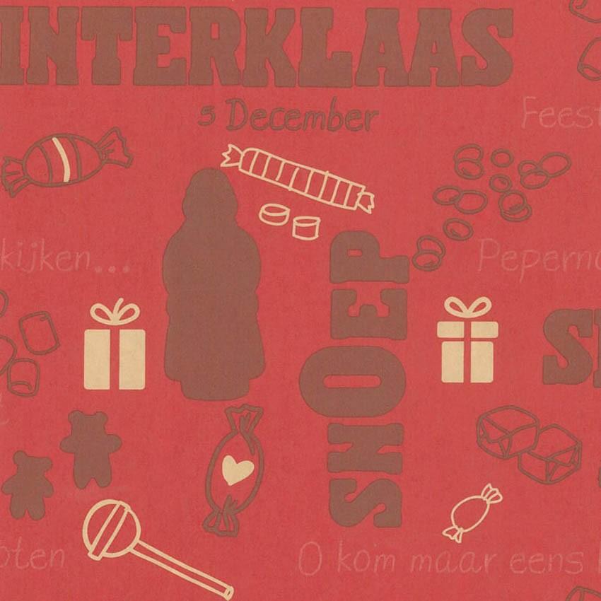 Sinterklaas bruin pakpapier