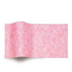 roze vloeipapier met witte stippen