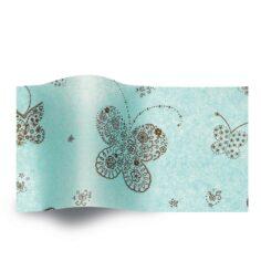 vloeipapier bedrukt met vlinders