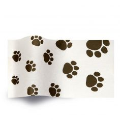 white Tissue paper Printed with puppy paws