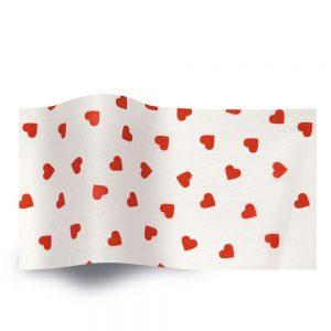 Vloeipapier bedrukt met hartjes