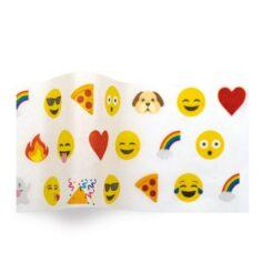 vloeipapier bedrukt met emoji