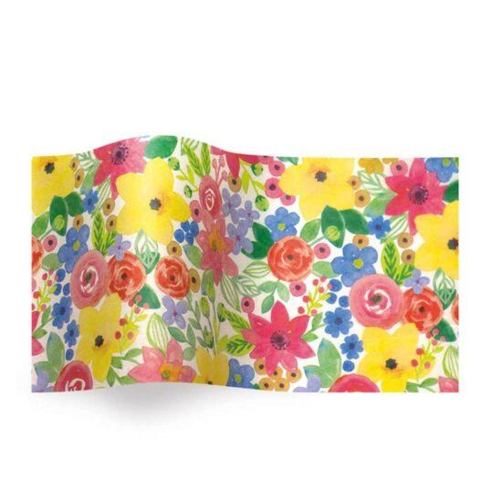 Vloeipapier - Aquarel bloemen