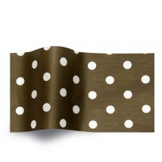 Zwart vloeipapier bedrukt met witte stippen
