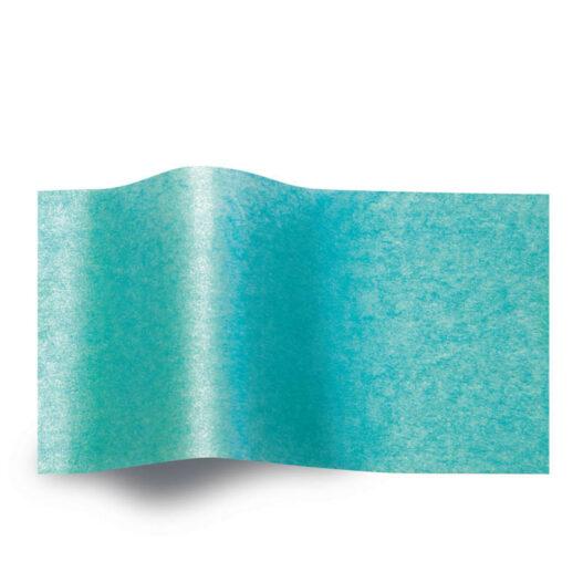 Turquoise pearlesence zijdepapier